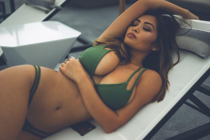 People 2048x1365 women bikini Asian closed eyes Vivian Chau model