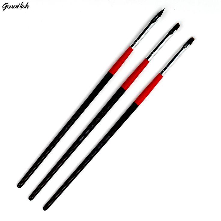 3 stücke Zeichnung Nagelbürsten Maniküre Stift Professionelle für Malerei DIY Tragbare Nagelkunstwerkzeuge mit Überlegene Quality-BR029