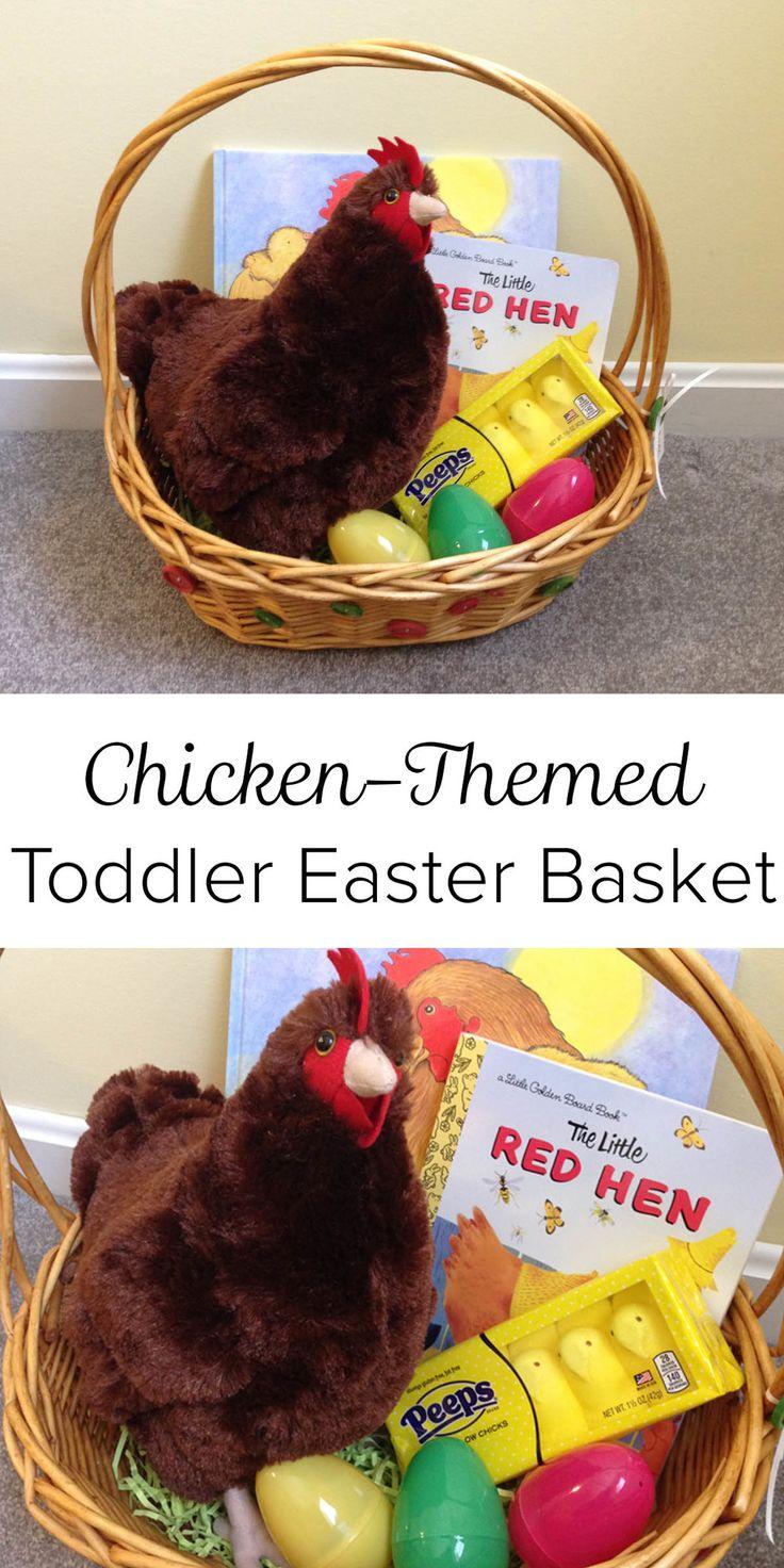 Chickenthemed toddler easter basket easter baskets