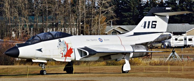 Royal Canadian Air Force McDonnell CF-101 Voodoo, Lynx Squadron 416, on display at Reynolds-Alberta Museum in Wetaskiwin, Alberta.