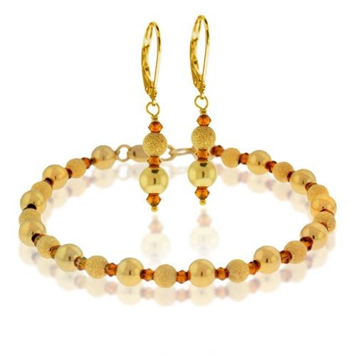 Golden Stardust Bracelet and Earring Design Kit