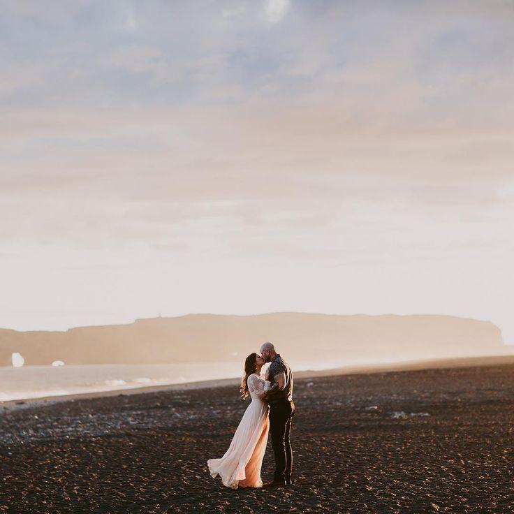 Vik Black Beach Iceland Elopement  | Brandon Scott Photography