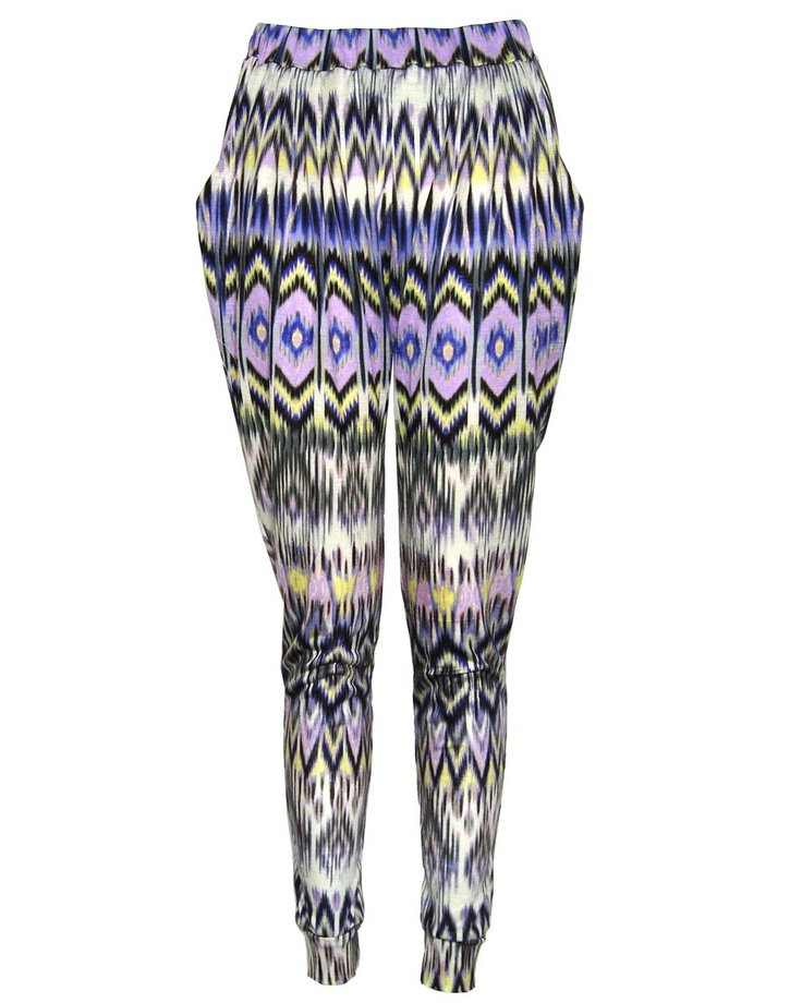 Tribal Print Slouch Trousers #eco #sustainable