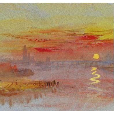 Turner Scarlet Sunset greetings card