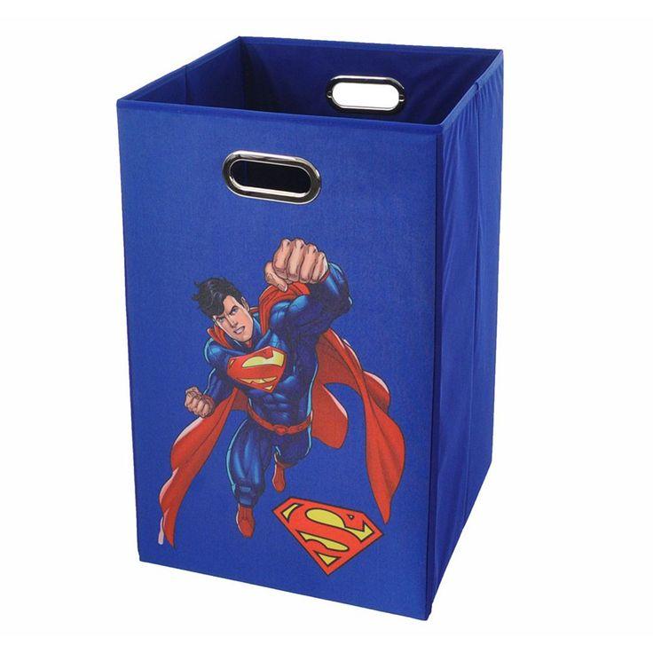 DC Comics Superman Collapsible Laundry Basket, Blue