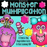 Multiplication Games ~ 25 Print and Play Bingo Dabber Game