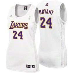 ... Kobe Bryant White adidas Revolution 30 Replica Los Angeles Lakers Womens  Jersey 59.99 http ... 517c623657