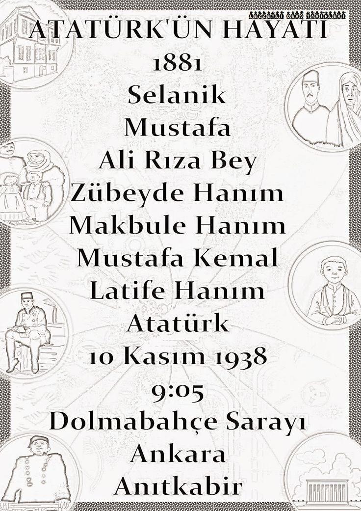 Kelimelerle Atatürk'ün Hayatı Pano Çalışması