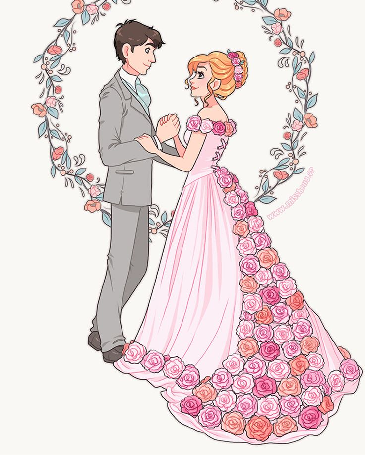 Thanks IG for the awful cropping job T_____T Wedding illustration ! #art #wedding #announcement #card #invite #newlyweds #couple #love #pastel #mariage #faire-part #fairepart #illustration #carton #invitation #fête #party #guests #dress #invités #robe #mariée #marié #bride #groom #fleurs #flowers