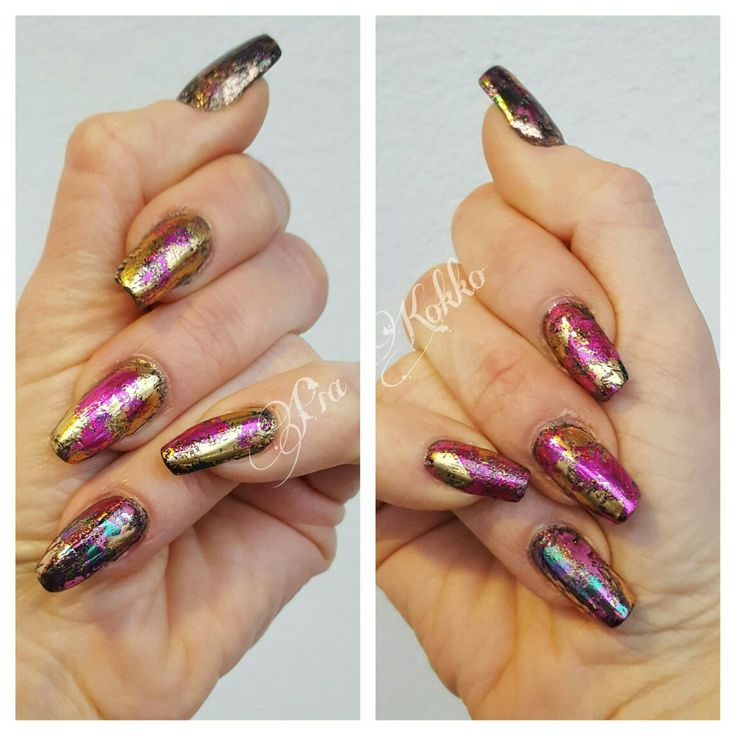 #foil #magenta #gold #rosegold #opal #whitegold #glitter #mosaic #uvgel #mosaicnailsystems #passionfornails