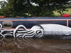 Canal Boat Art - Steampunk only in the sense that it's reminiscent of Jules Verne and 20,000 Leagues Under the Sea.