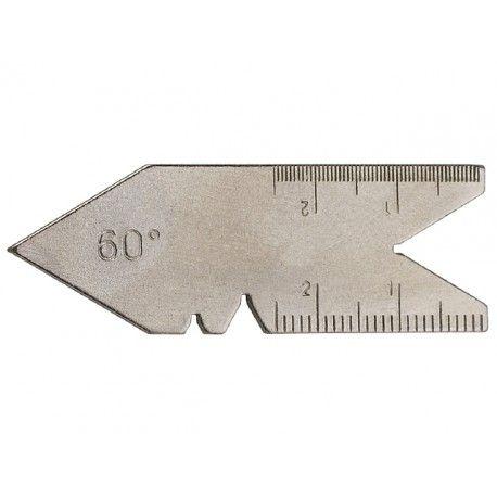 LIMIT Mierka uhlová 60° na meranie závitov. Mierka uhlová 60° na meranie závitov a uhla sústruženia Popis: pre 60°
