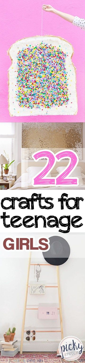 Crafts for Girls, Crafts for Teenage Girls, Teenage Crafts, Easy Crafts for Teens, DIY Home Decor, DIY Bedroom Upgrades for Teens, Craft Ideas for Kids, Quick and Easy Craft Ideas, Popular Pin
