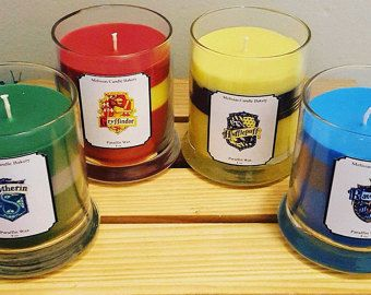 Collection de bougies de Harry Potter House Pride, Serpentard, Poufsouffle, Serdaigle, Gryffondor