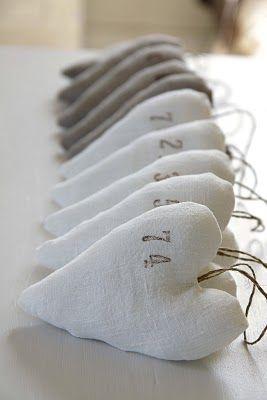 DIY Linen Hearts