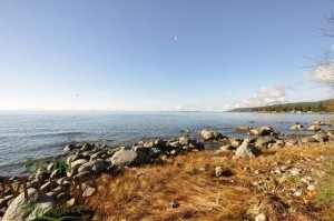 Lot 15 Klahanie Drive Powell River BC - Walk-on waterfront Lot – Build your dream home on this walk-on-waterfront gently sloping cleared 73x174 lot, septic and power already in place. South west exposure overlooking the strait, marine life & year round sunsets. Quiet, friendly community a short 10 minute drive from town. Price includes a 99 year land lease agreement with no other costs except annual taxes & water. Fantastic spot for your dream home or summer residence & no HST or PPT.