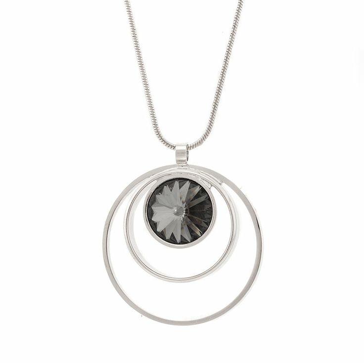 "Swarovski necklace ""Universum"" dark grey, 38€  http://www.taika-korut.fi/product/182/universum-kaulakoru-tummanharmaa"