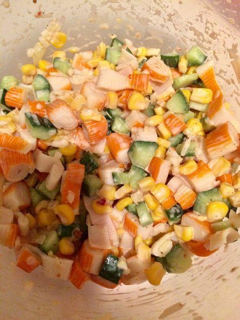 Surimi Salat, ein leckeres Rezept aus der Kategorie Gemüse. Bewertungen: 7. Durchschnitt: Ø 4,2.