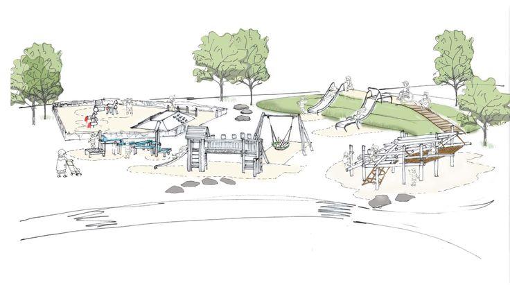 Creando espacios de valor #bdu #playground #ideas #barcelona #children #parquesinfantiles #illustration