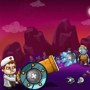Zombie Regimen is a physics based puzzle game. You're in control of an anti-zombie gun that will bring people back from the despair of being a zombie. There are 3 types of ammunition, which allow you to get the zombies and turn them back. Be careful not to kill the zombies as you'll not be able to save the humans!
