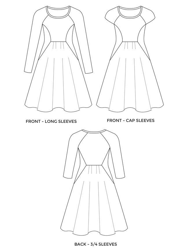 Zadie sewing pattern by Tilly and the Buttons - love the style lines on this!!