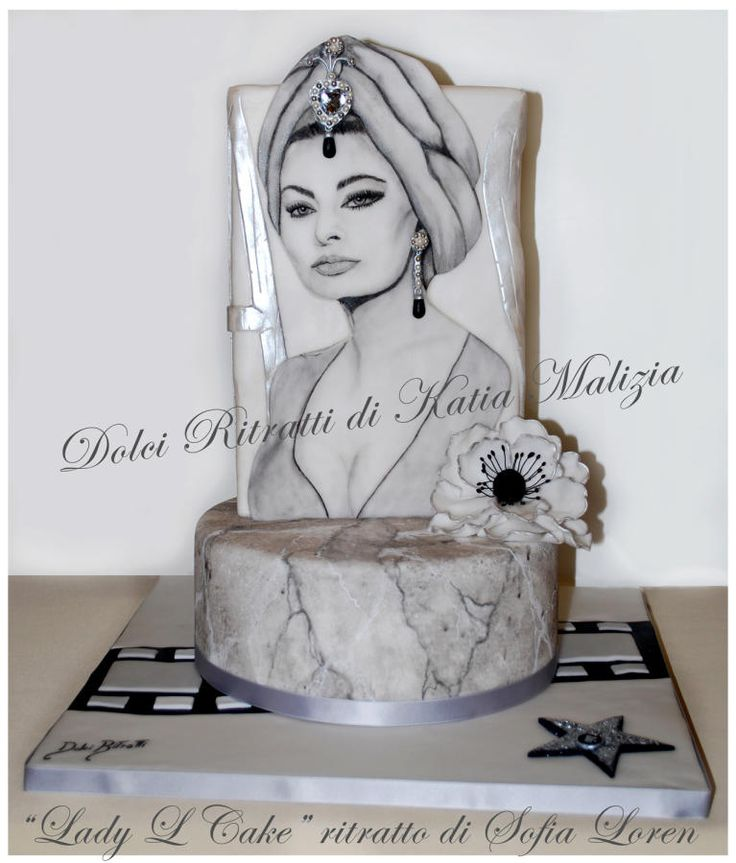 Lady L Cake Portrait Of Italian Actress Sofia Loren By Dolci Ritratti