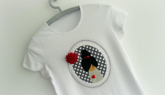 """Camiseta """"camafeo pom·pom""""  gris-rojo, Niños y bebé, Ropa, Ropa, Camisetas"""