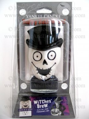 Yankee Candle Witches Brew Plug-In Fragrance Oil Air Freshener Electric Set Halloween Boney Bunch