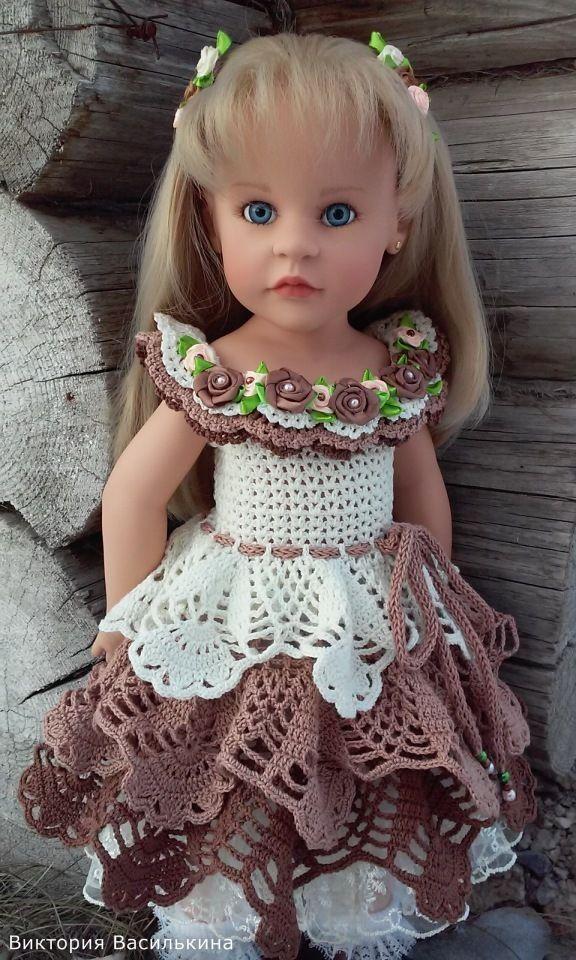 Добрый день! У нас связалось пока два новеньких платьица, для Любимых кукол Готц, вот решили Вам показаться! Спасибо Вам Всем,