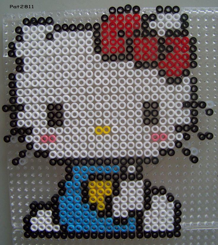 perles a repasser : hello kitty - Les loisirs de Pat