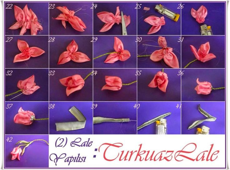 Bundan sonra sizlerle yaptığım çiçeklerin yapılışlarını paylaşacağım..İlk çiçeğimiz lale ve farklı lale çalışmalarımdan biri..         ...