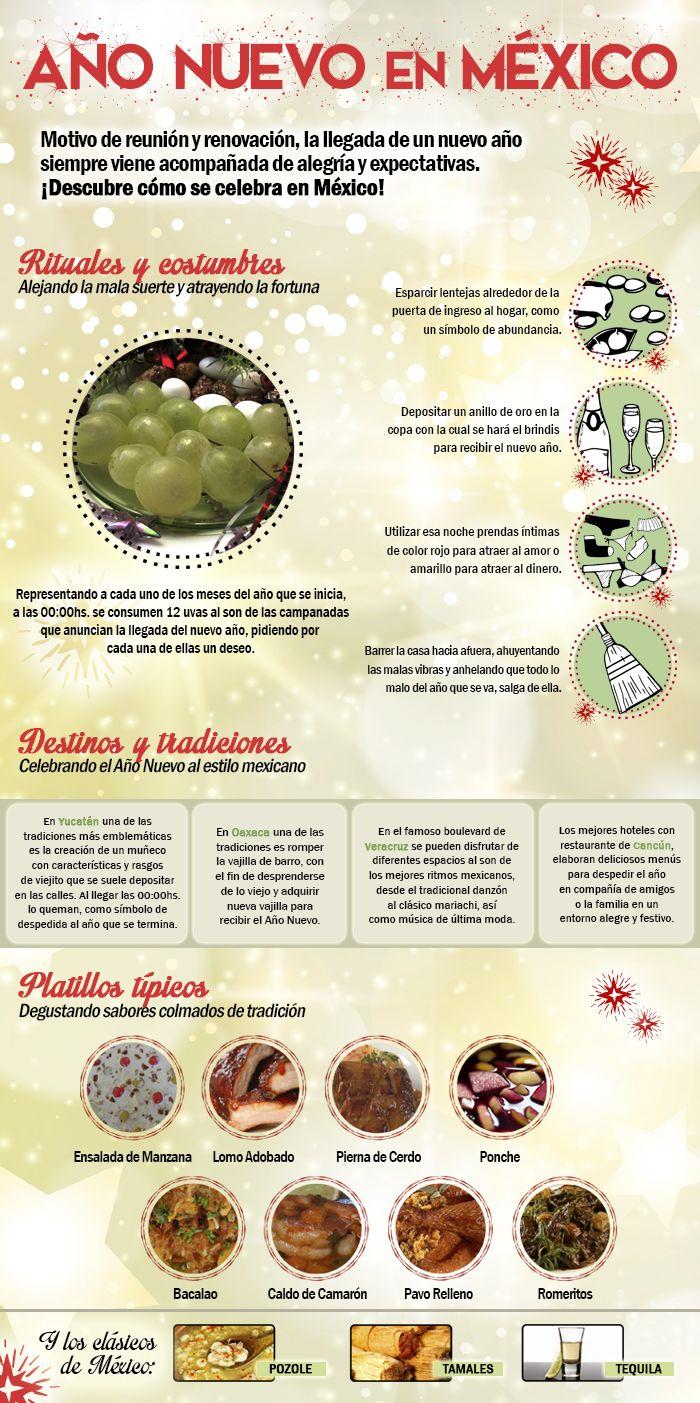 ¡Celebra Año Nuevo bien al estilo mexicano! #Costumbres #Rituales #RecetasTipicas #DestinosdeMexico #AnoNuevo Reserva tu vuelo http://www.bestday.com.mx/Vuelos/ ¡y disfruta el 2015 en algún destino de México!