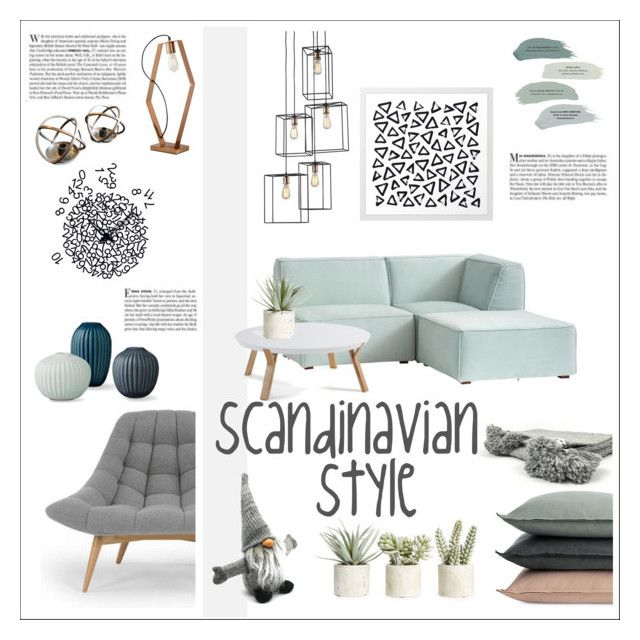scandinavian style by levai-magdolna on Polyvore featuring interior, interiors, interior design, home, home decor, interior decorating, Pacific Coast, Design Within Reach, Sockerbit and Allstate Floral