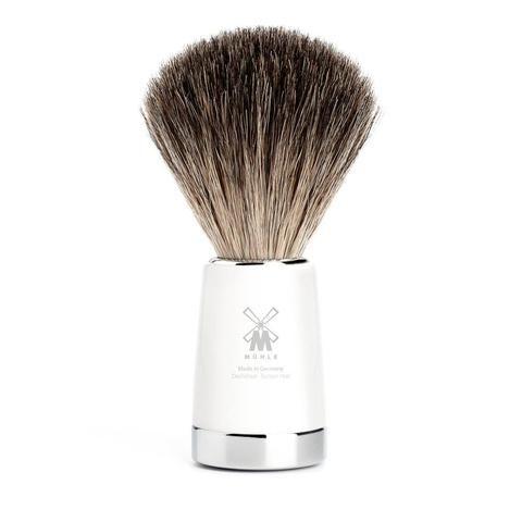 Badger Brush - MÜHLE Liscio Pure Badger White Shaving Brush