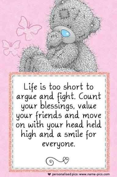 Tatty teddy - Life's too short