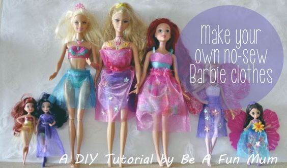 how to make barbie clothes without sewing