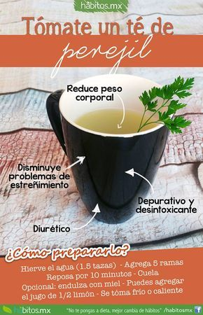 Hábitos Health Coaching | Té de perejil