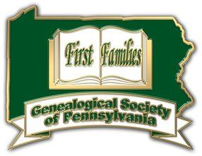 First Families Logo: Andrew Sharp; he and brothers Alexander, James, John and William all veterans American Revolution, Cumberland Co. Militia, PA