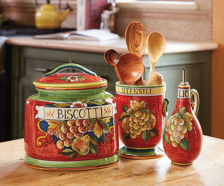 Beaufiful Italian Canisters Kitchen Pictures >> Capri Fruit ...