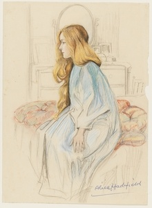 Miss Hadfield, nd, watercolour drawing by May Gibbs. From the collections of the Mitchell Library, State Library of New South Wales www.sl.nsw.gov.au...