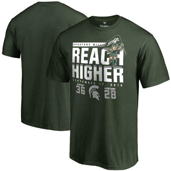 Michigan State Spartans vs. Notre Dame Fighting Irish 2016 Score T-Shirt - Green - $24.99