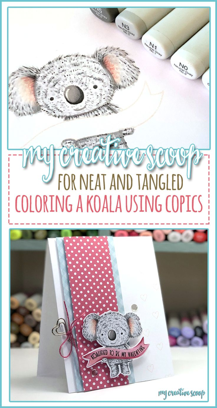 Step by Step - How to Color a Koala using Copic Markers