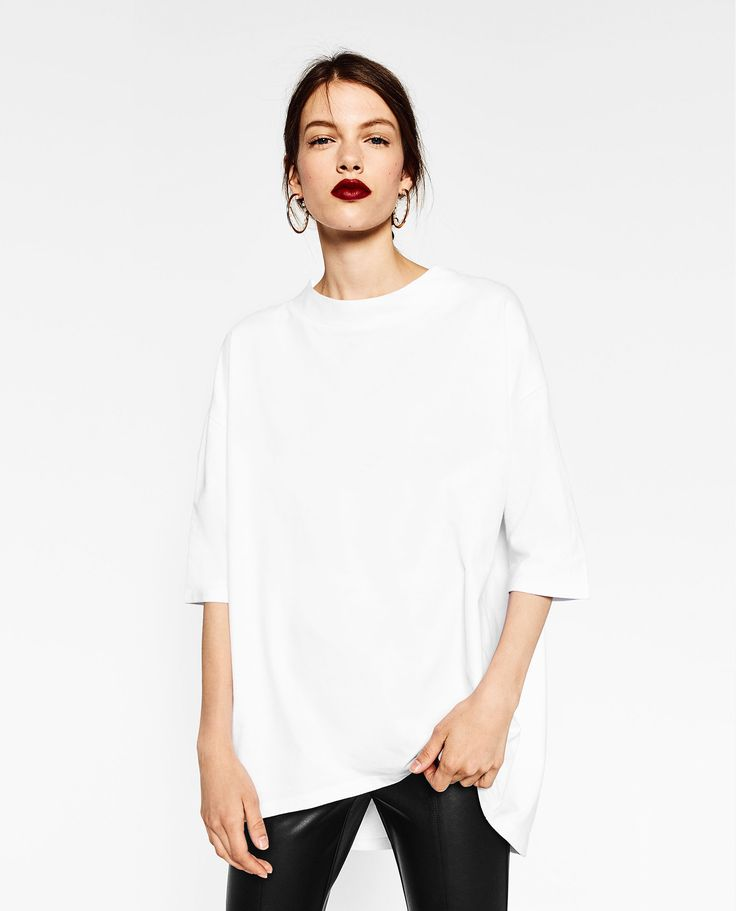 ZARA - TRF - OVERSIZED HIGH NECK SWEATSHIRT