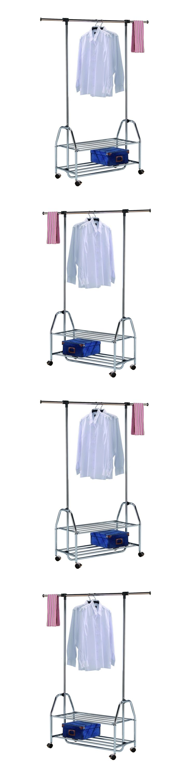 Garment Racks 166325: Portable Clothes Rack Rolling Garment Hanger Heavy Duty Rail Bar Adjustable Shoe -> BUY IT NOW ONLY: $105.37 on eBay!