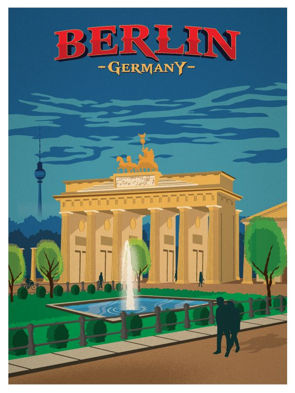 Image of Vintage Berlin Poster available for sale at ideastorm.bigcartel.com