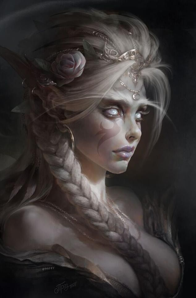 Night Elf princess, fantasy character and race inspiration