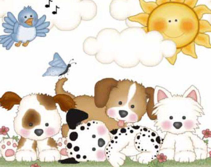 CACHORRO vivero DECOR Decal Mural pared arte perro pegatinas bebé ducha pata impresiones pistas niño niña niños Neutral sala decoraciones dálmata Westie