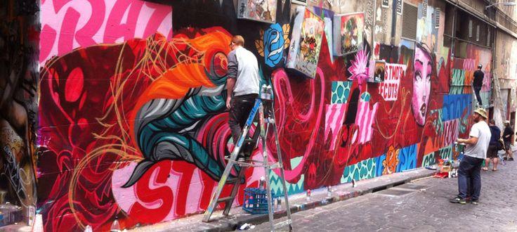 Hosier Lane Everfresh - I love the Street art in the Laneways of #melbourne #greatexperience #bespokehunter