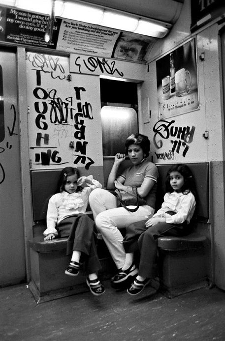 Graffiti NYC subway in the 70s