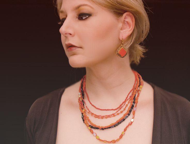 Orange ethno Ohrringe von aStatement auf DaWanda.com